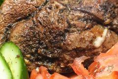 Carne con las verduras macras Foto de archivo libre de regalías