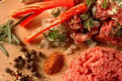 Carne con le verdure immagini stock libere da diritti