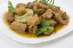 Carne con le verdure Immagine Stock
