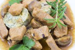 Carne con le verdure fotografia stock libera da diritti