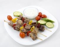 Carne con le verdure Immagini Stock