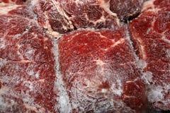 Carne congelada Imagenes de archivo