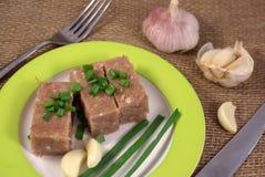 Carne convertida en gelatina imágenes de archivo libres de regalías