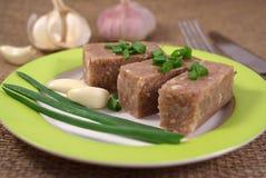 Carne convertida en gelatina Fotos de archivo