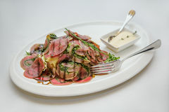 Carne cortada del filete Imágenes de archivo libres de regalías