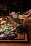 Carne cotta Fotografie Stock