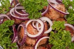 Carne cotta Fotografia Stock Libera da Diritti