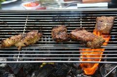 Carne cotta BBQ Immagine Stock Libera da Diritti