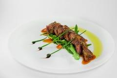 Carne cozida Pratos da carne Fotografia de Stock