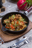 Carne cozido com batatas Fotos de Stock Royalty Free