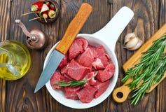 Carne crua Fotos de Stock Royalty Free