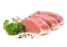 Carne crua com salsa Fotografia de Stock