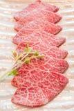 Carne crua da fatia Fotografia de Stock Royalty Free