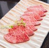Carne crua da fatia Fotografia de Stock