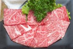 Carne crua da fatia Foto de Stock