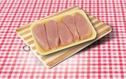 Carne crua da galinha Fotografia de Stock