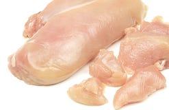 Carne crua da galinha de Choped isolada fotografia de stock royalty free