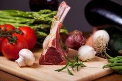 Carne crua do cordeiro Fotografia de Stock