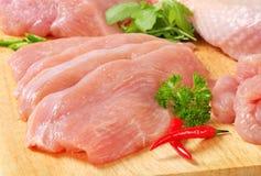 Carne crua do peru fotografia de stock