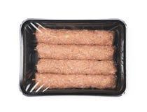 Carne crua encaixotada do no espeto isolada Foto de Stock