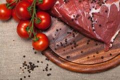 Carne crua fresca Imagem de Stock