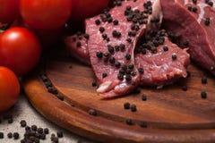 Carne crua fresca Fotografia de Stock Royalty Free