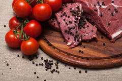 Carne crua fresca Foto de Stock Royalty Free