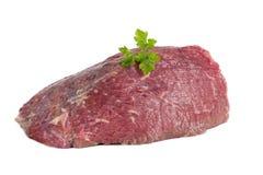 Carne crua mea no fundo branco Foto de Stock Royalty Free