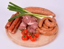 Carne crua na placa de madeira Foto de Stock Royalty Free