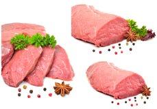 Carne crua, pimenta preta e anisetree Fotografia de Stock Royalty Free
