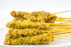 Carne crua Satay IV Imagem de Stock
