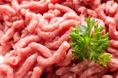 A carne crua tritura Imagens de Stock Royalty Free
