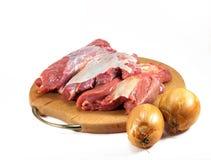Carne crua vermelha fotografia de stock