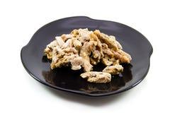 Carne cruda cortada fresca del pollo Foto de archivo