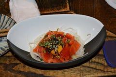 Carne cruda de color salmón Foto de archivo