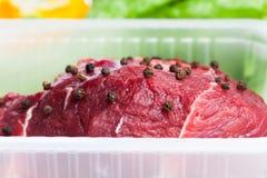 Carne cruda fresca Fotografie Stock