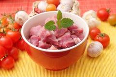 Carne cruda fresca foto de archivo libre de regalías