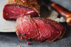 Carne curada Fotos de Stock