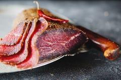 Carne curada Imagem de Stock Royalty Free