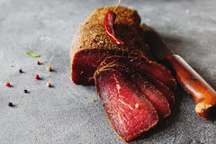 Carne curada Foto de Stock Royalty Free