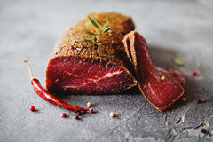 Carne curada Fotos de Stock Royalty Free