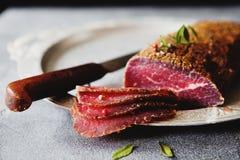 Carne curada Fotografia de Stock Royalty Free