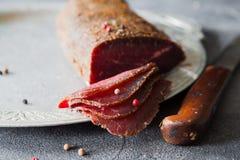 Carne curada Imagem de Stock
