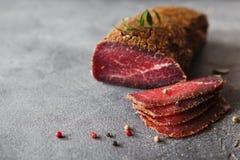 Carne curada Fotografia de Stock