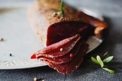 Carne curada Imagens de Stock