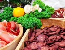 Carne curata fotografia stock