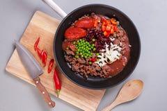 Carne d'escroquerie de s/poivron Image stock