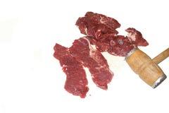 Carne da carne que prepara-se para fritar Imagem de Stock