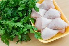 Carne da galinha com salsa Imagens de Stock Royalty Free