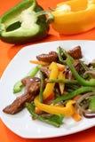 Carne da galinha com vegetal fotografia de stock